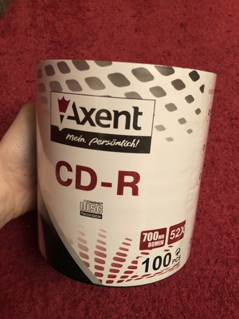 Продам упаковку дисков CD-R Axent 700MB/80min 52X 100 шт