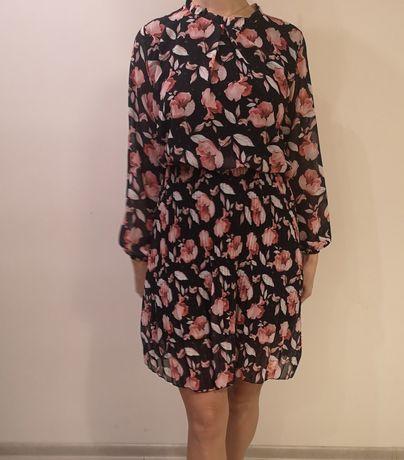 Eleganckie Sukienki w kwiaty M-L