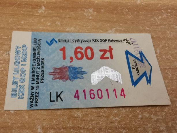 Bilet KZK GOP Katowice