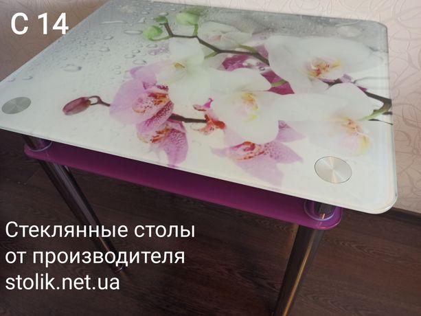 Стеклянные столы фотопечать