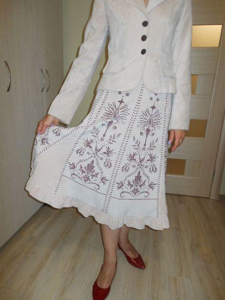 Женский светлый вельветовый замшевый костюм Беларусь