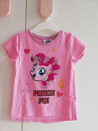 Koszulka My Little Pony różowa bluzka krótki rękaw cekiny