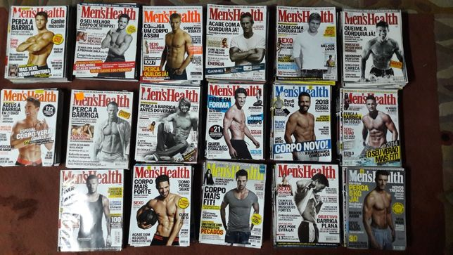 Revistas Men's Health 201 Volumes no total desde 2001