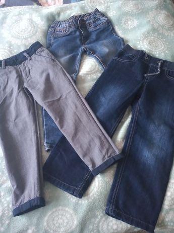 Spodnie dziecięce 110, 3 pary
