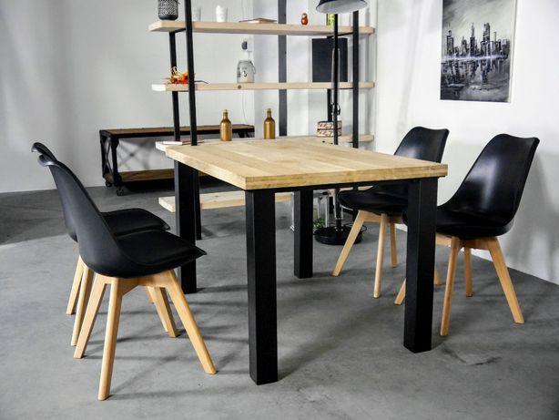stół loft nowoczesny minimalistyczny loftowy drewniany dębowy