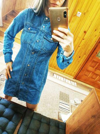 Платье, рубашка, деним, джинс от Pull and bear. На обхват груди до 80