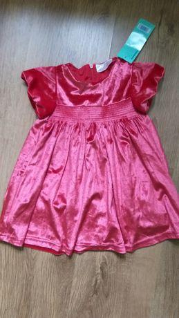 Платье новое нарядное, размер на годик