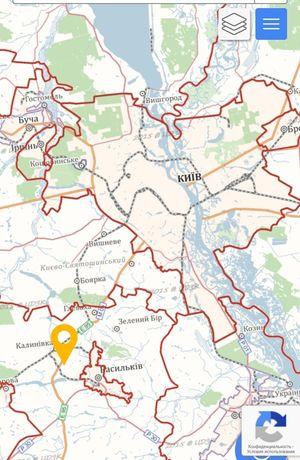 Продам участок 0,1058Га 19 км от Киева.