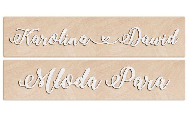 Tablice rejestracyjne do ślubu - biały napis