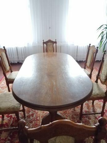 Ostateczna cena. Stół dębowy + 6 krzeseł
