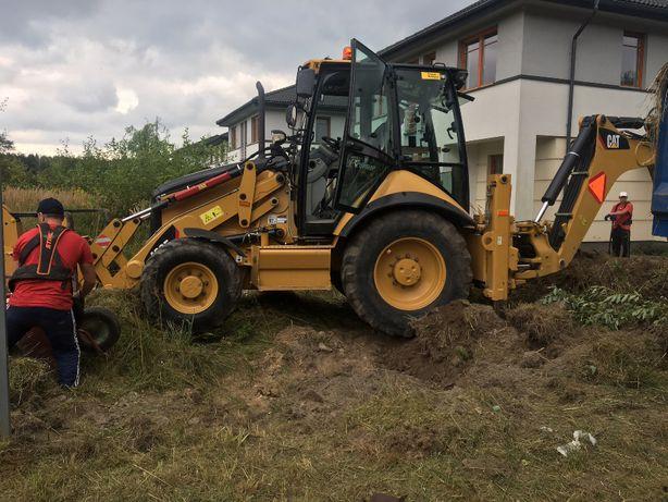 Usługi mini koparka koparko-ładowarka, HDS, ziemia ogrodowa piach żwir