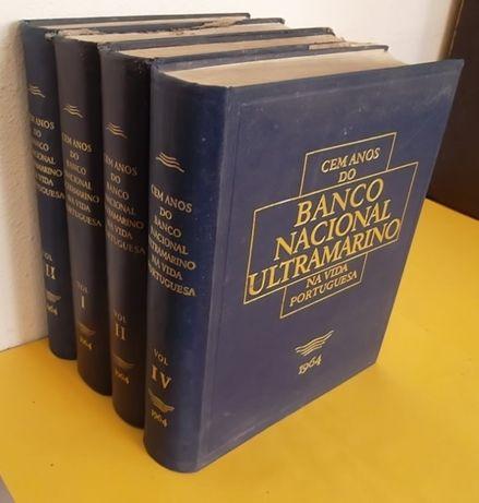 Cem Anos do Banco Nacional Ultramarino 4 volumes