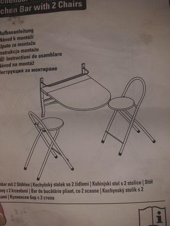 Stolik kawowy Plus krzesło