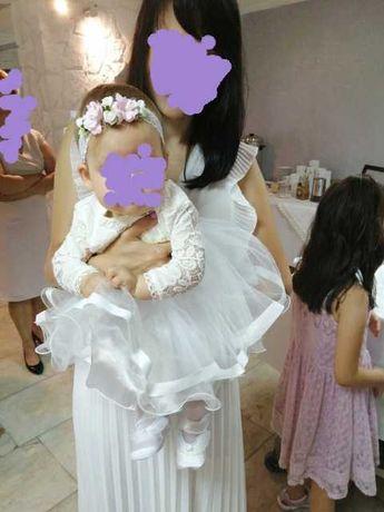 Ubranko do chrztu dla dziewczynki w kolorze ecru rozmiar 68/74