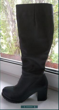 Продам шкіряні чоботи 35 розмір!