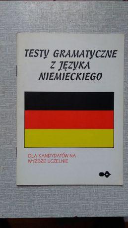 Testy gramatyczne z języka niemieckiego dla kandydatów na wyż uczelni