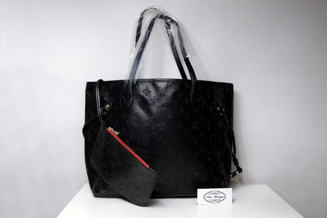 Nowa torebka shopperka Louis vuitton Neverfull. PremiumCzarna i beżowa