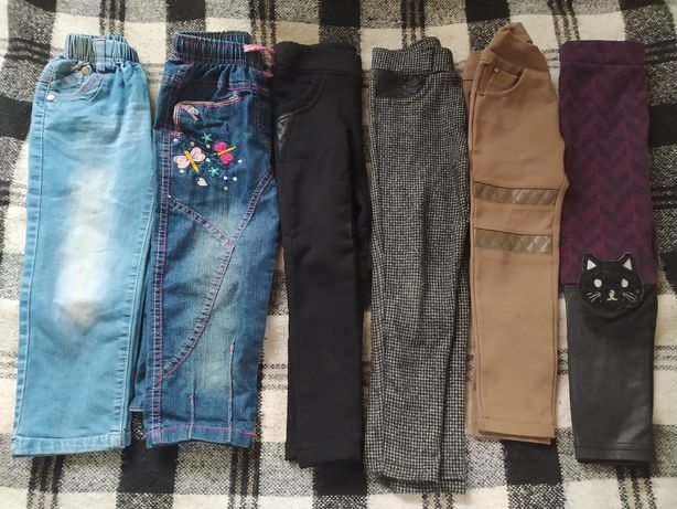 Лосины и джинсы на девочку 4-5 лет