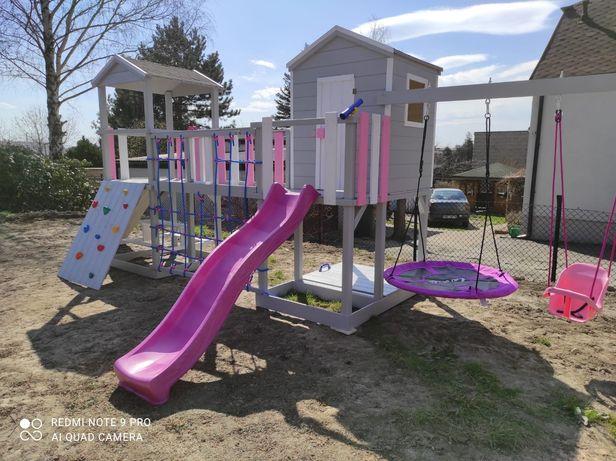 Drewniany MEGA plac zabaw, domek dla dzieci model PONY