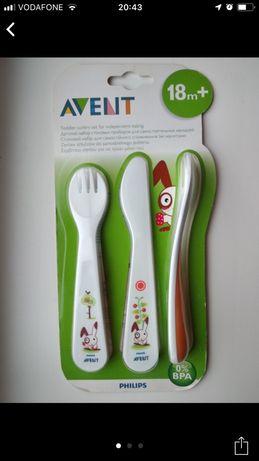 Philips AVENT набор ложечка, вилочка, и нож 12+, 18+ на Миколая