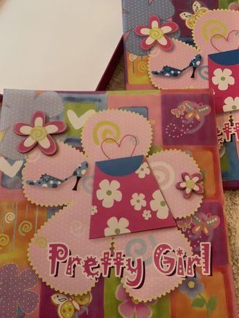 Детский фотоальбом для девочки Pretty Girl. Подарок на рождение