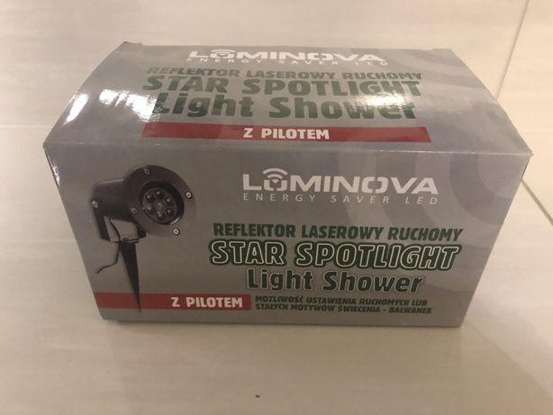 Nowy Reflektor laserowy ruchowy LED pilot