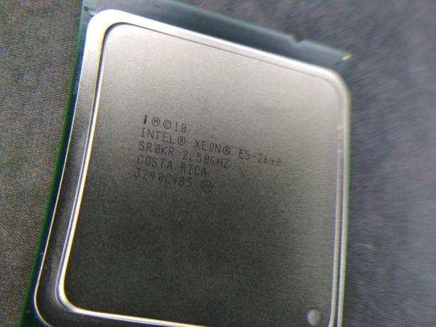 Серверный процессор Intel Xeon E5 2640 6 ядер 12 потоков 2,5 ГГц