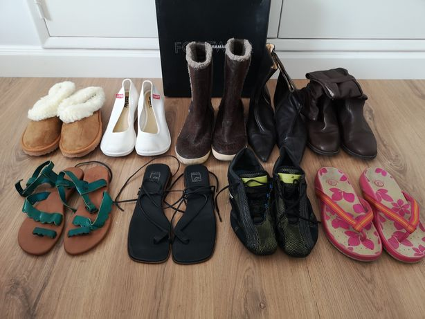 Vendo sapatos botas sandálias chinelas ténis baratas