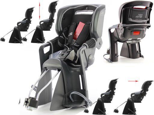 Fotelik rowerowy Jockey 3 Comfort model 2019, czarno-szary
