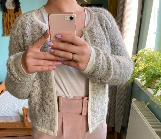 Opus narzutka sweter kardigan wełna 36 38 40