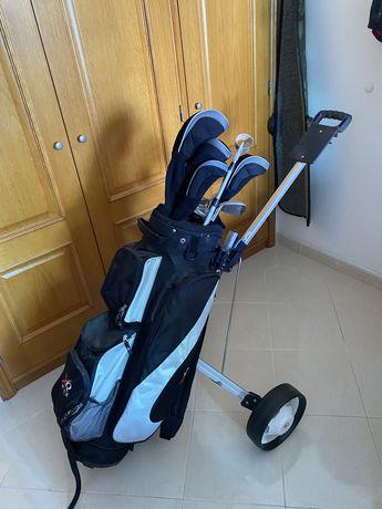 Tacos e sacos de golfe