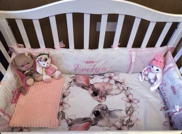 Постель детская бортики постельное белье кроватка