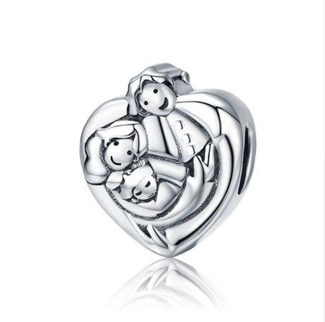 Charms PANDORA srebro 925 serce rodzina miłość