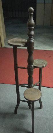 Suporte de vasos em madeira