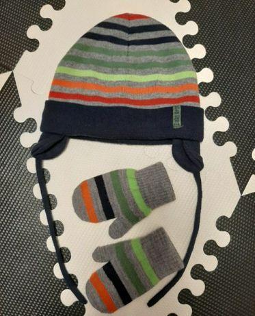 Czapka dziecieca h&m 86/92/104 1 - 2 lata, 1,5 -4 lata rękawiczki