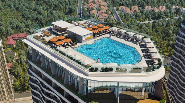 """Cмарт квартира с бассейном на Гагаринском Плато в ЖК """"Unity Towers"""""""