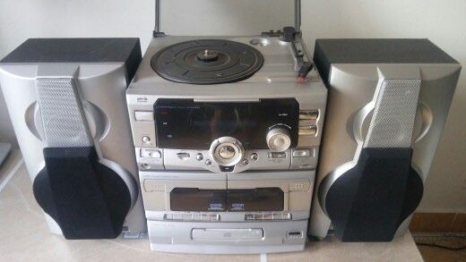 Wieża hifi schneider z gramofonem