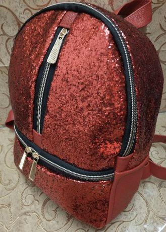 Новый рюкзак с блестками для девочки