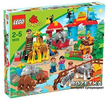 Конструктор LEGO DUPLO Большой городской зоопарк + Большой автобус