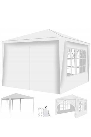 Altanka biała Pawilon ogrodowy 3x3 + 4 ścianki