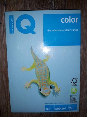 Бумага А4 голубая