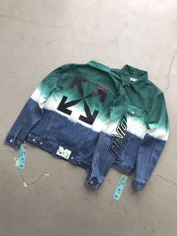 джинсовый пиджак Off white (heron,travis, Balenciaga,palm)