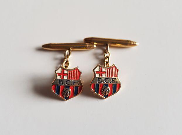 Spinki do mankietów dla fana piłki nożnej FC Barcelona B.C.F.