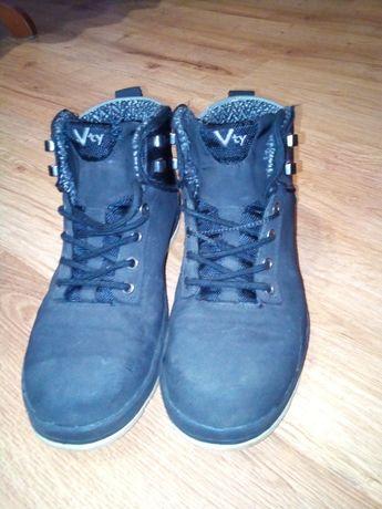 Buty skórzane zimowe z kożuszkiem VTY 41