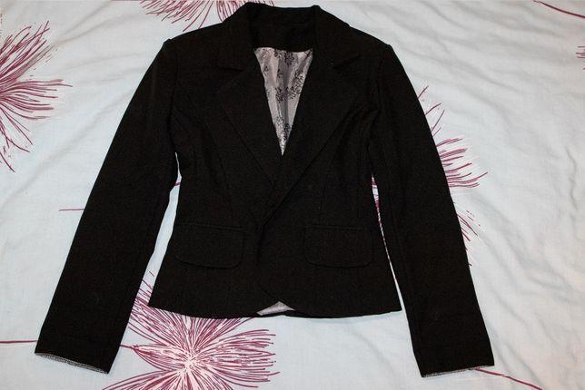 Школьный коттоновый пиджак на девочку 128р