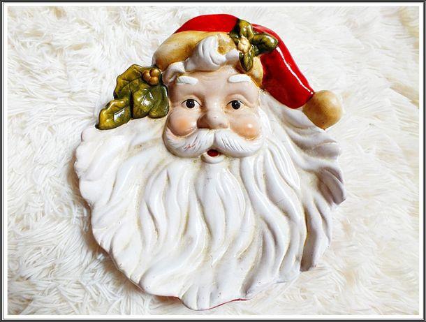 Śliczna Patera Świąteczna Mikołaj talerz na cukierki, inne przysmaki