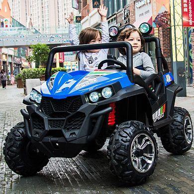 Детский электромобиль Багги LUX 3454 полный привод, кожа, мягкие колес