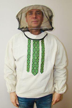 Куртка пчеловода бязь белая с маской