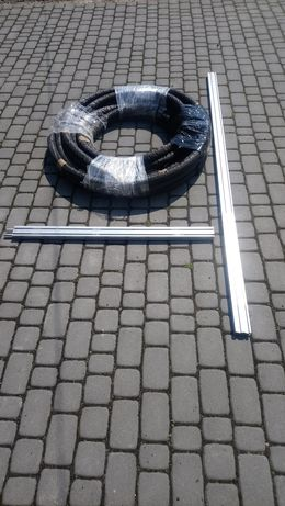 Przewód solarny, szyna, mocowanie