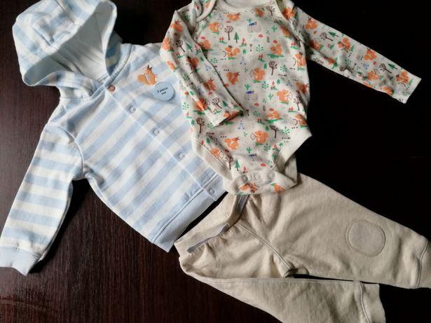 Nowe ubranka i buciki - chłopiec rozm 74